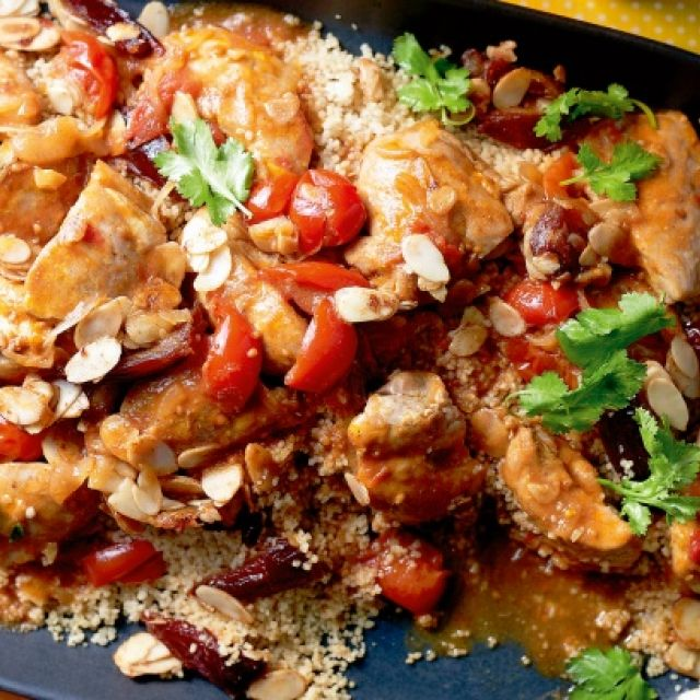 Chicken with Dates and Couscous