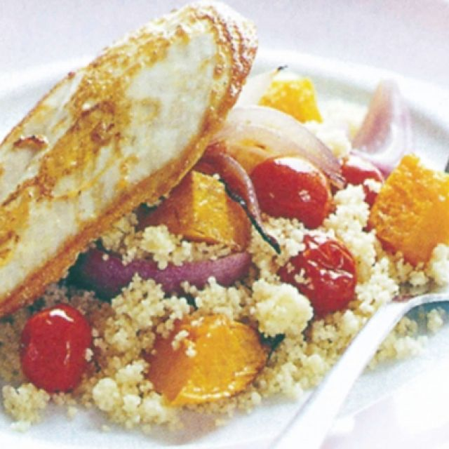 Chicken with Roasted Vegetable Couscous