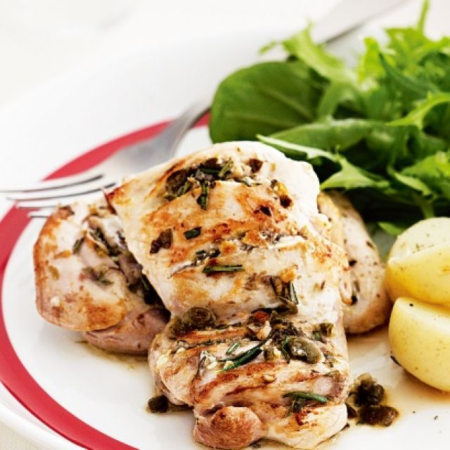 Chicken with Rosemary and Caper Seasoning