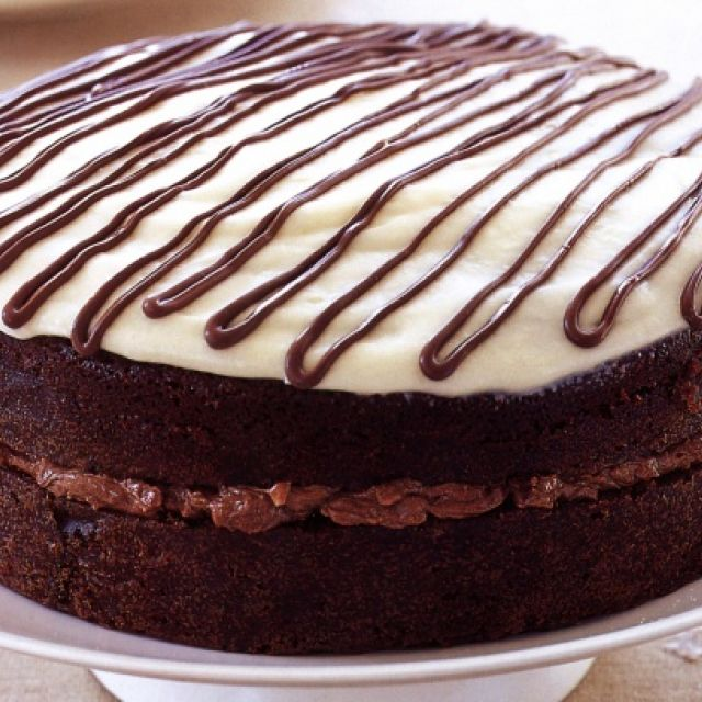 Chocolate Cake with Mocha Hazelnut Cream