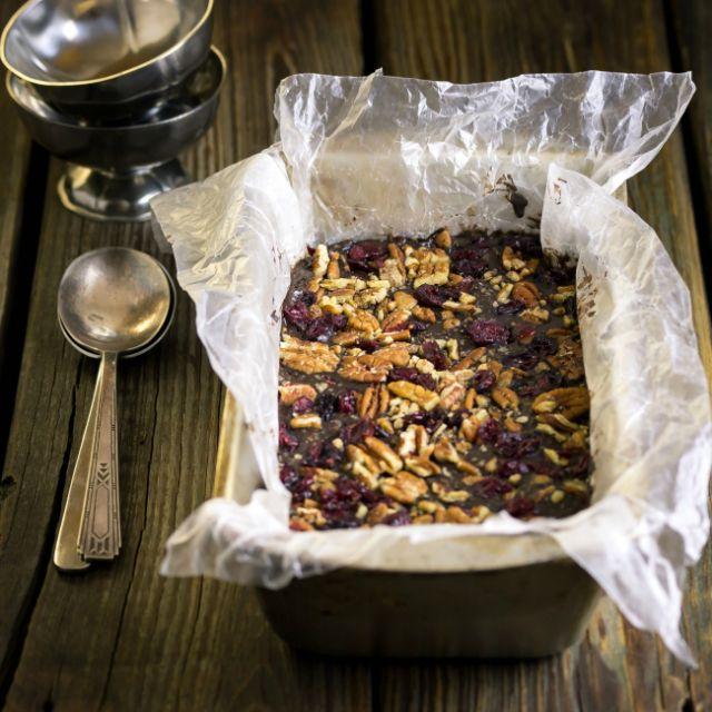 Dark Chocolate, Cranberry and Pecan Frozen Yogurt (Aka Dickens' Ice Cream)