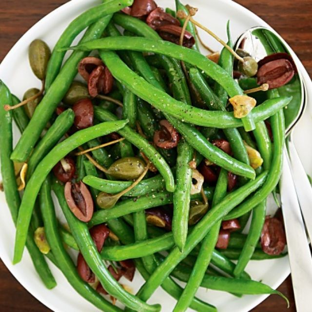 Green Beans with Olives and Caperberries
