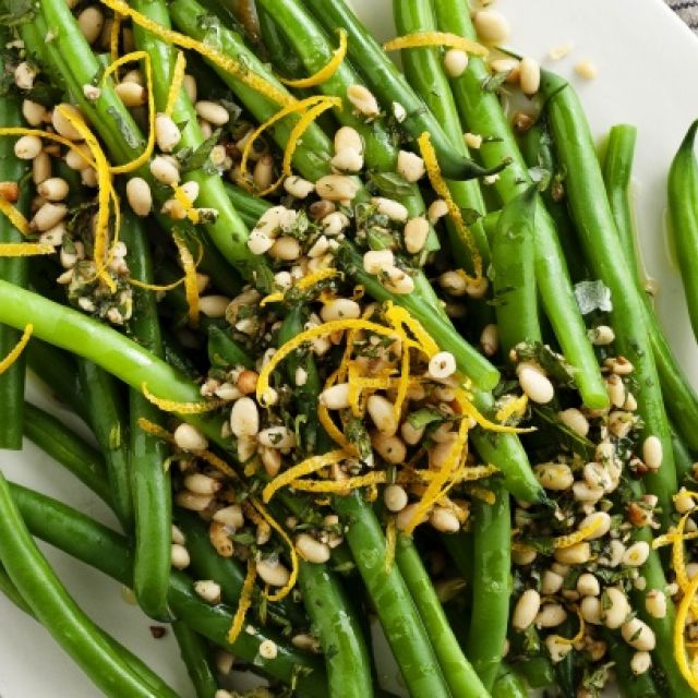 Green Beans with Orange and Pinenut Gremolata