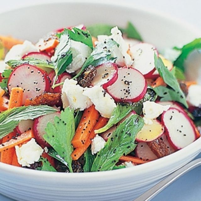 Radish Salad with Poppy Seeds and Goat's Cheese