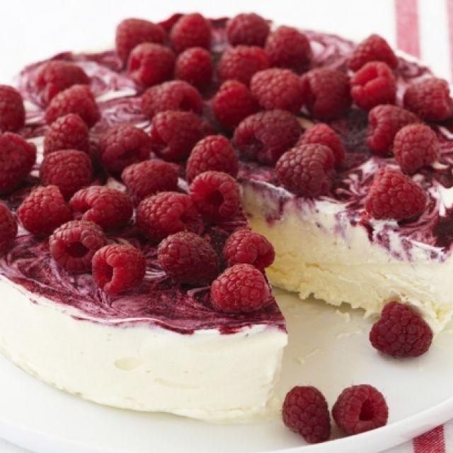 Raspberry Swirl Ice-Cream Cake