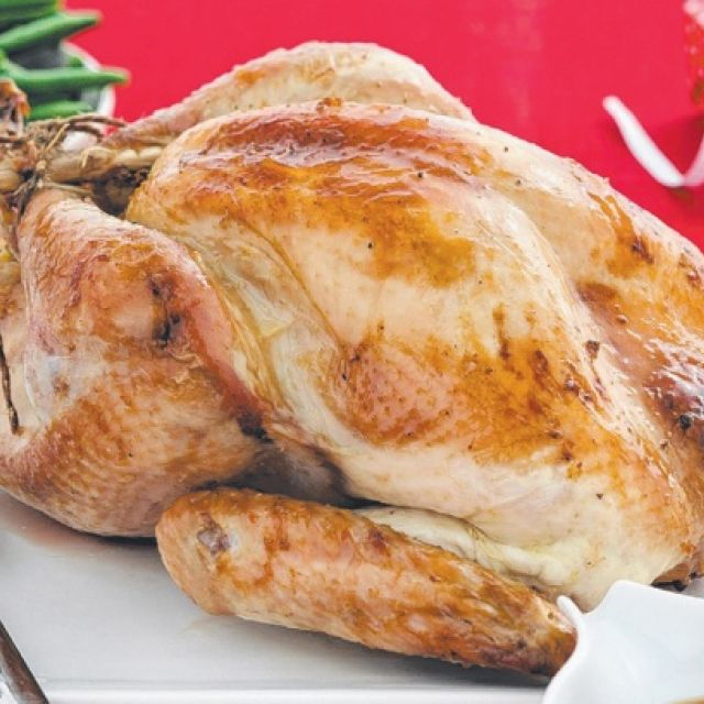 Roast Turkey with Almond and Tarragon Stuffing