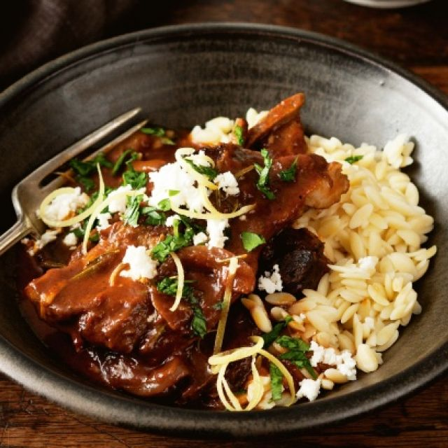 Slow-Cooker Lamb Chops in Red Wine Sauce