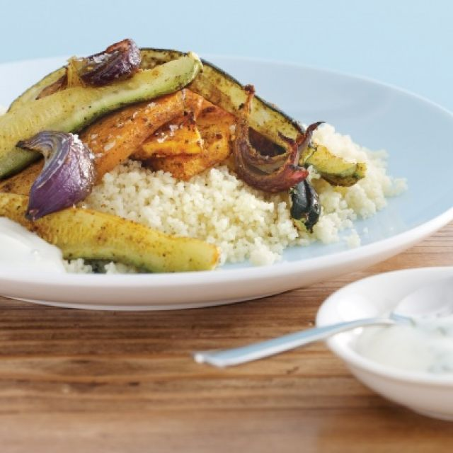 Spiced Roasted Vegetables with Mint Yogurt