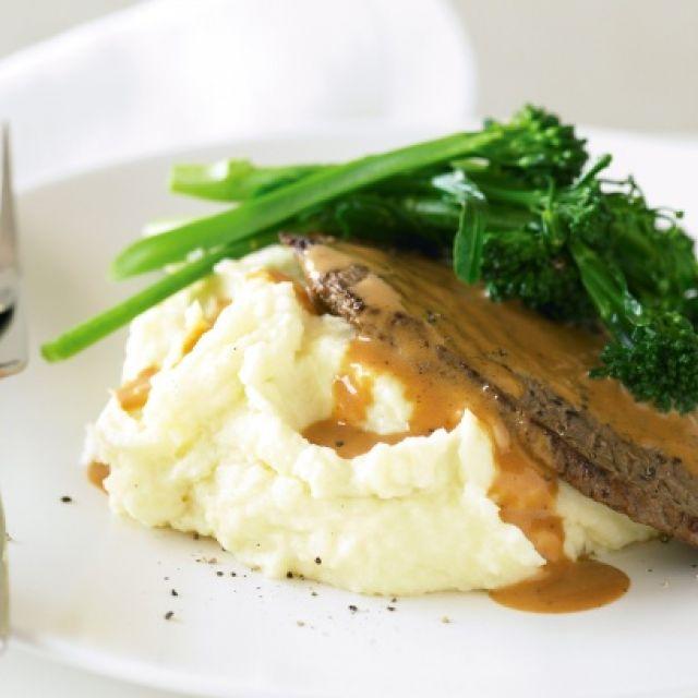 Steak Diane with Horseradish Mash
