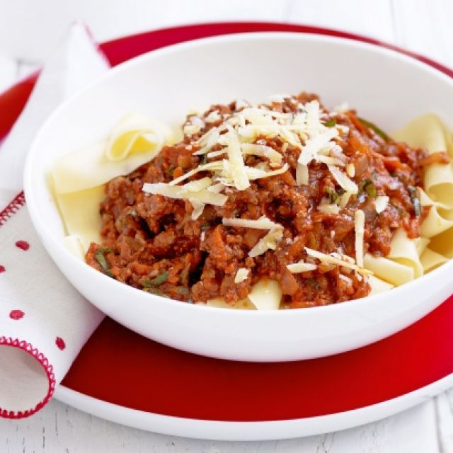 Super-Easy Bolognese with Pasta Ribbons