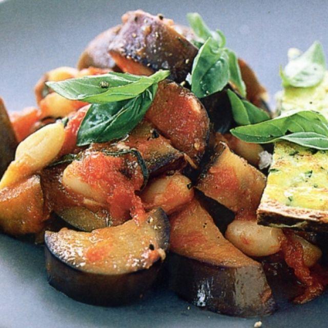 Zucchini Frittata with Bean Ratatouille