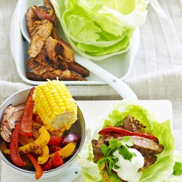 Beef Fajitas in Lettuce Cups