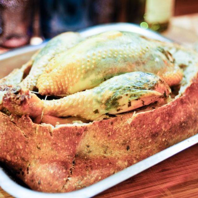 Chicken in a Bread Crust