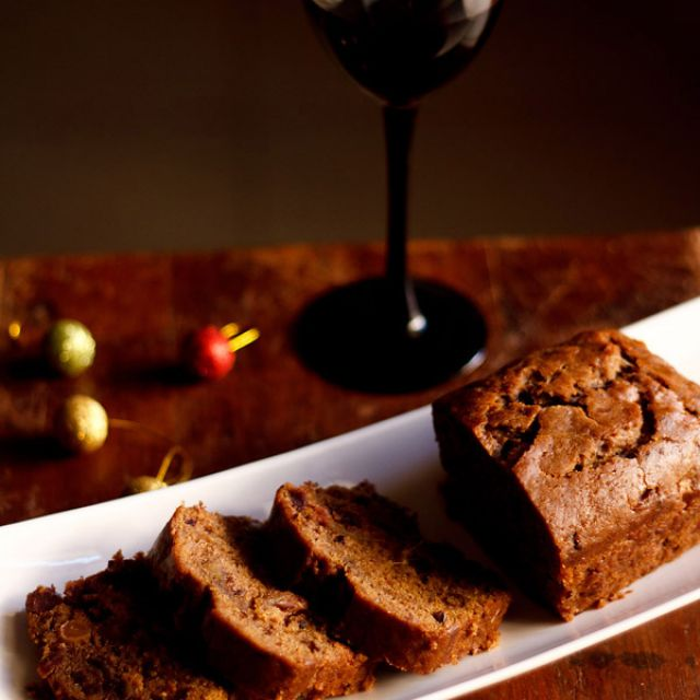 Eggless Christmas Wine Fruit Cake