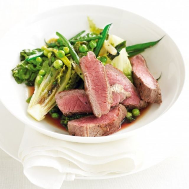 Lamb with Spring Vegetables