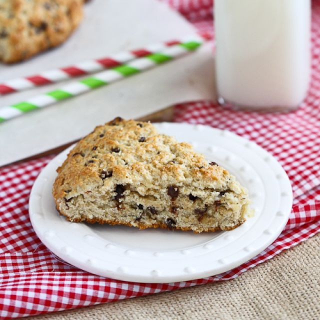 Low-Fat Scones  with Chocolate and Crystallized Ginger