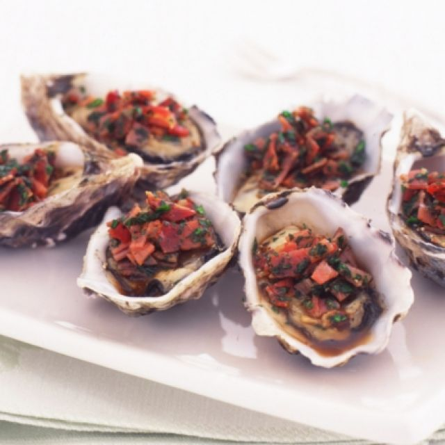 Oysters with Pancetta