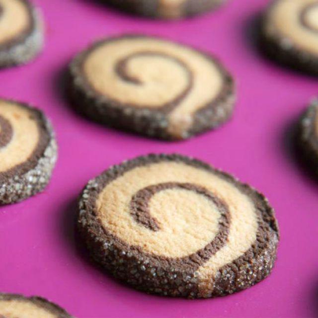 Pinwheel Cookies - Christmas Sablés Hallandais Swirl Cookie