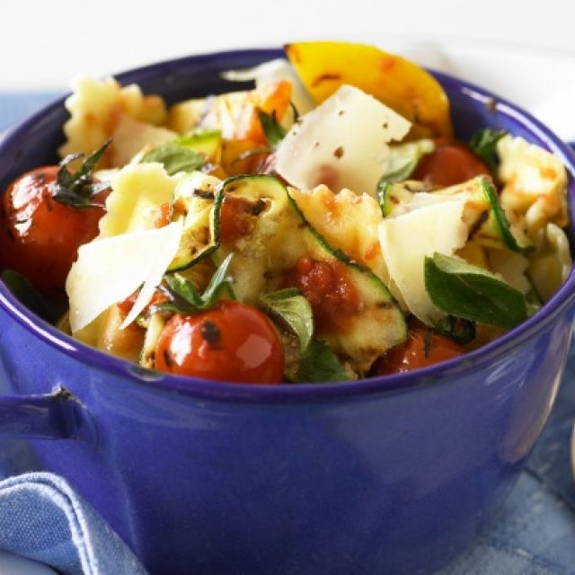 Ravioli with Chargrilled Mediterranean Vegetables