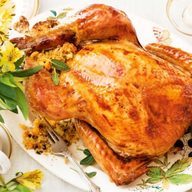 Roast Turkey with Apricot and Hazelnut Stuffing