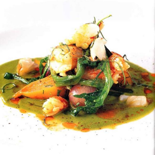 Shrimp with Green Curry Sauce