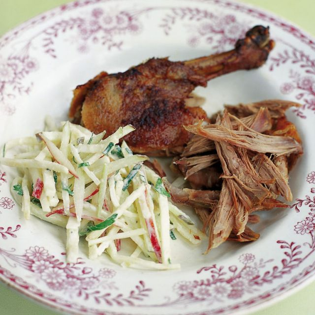 Slow-Roasted Duck with Celeriac Remoulade