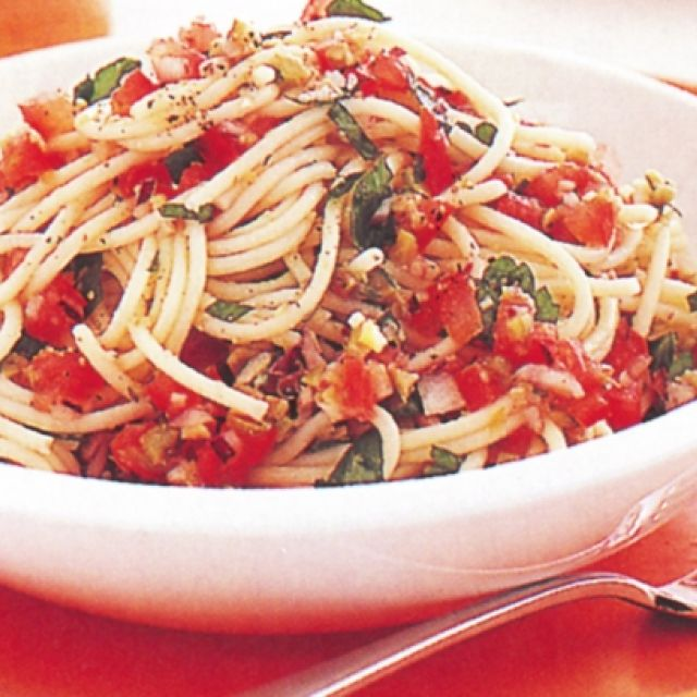 Spaghetti with Capers and Olives