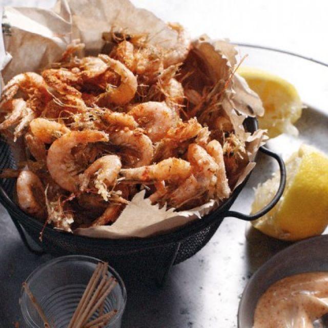 Spiced Shrimp with Paprika Mayonnaise