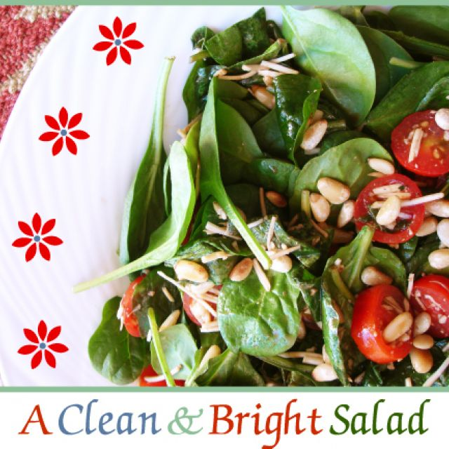 Spinach Salad with Toasted Pine Nuts