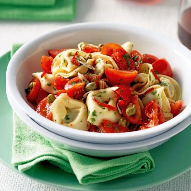Tortellini with Warm Tomato and Chili Oil