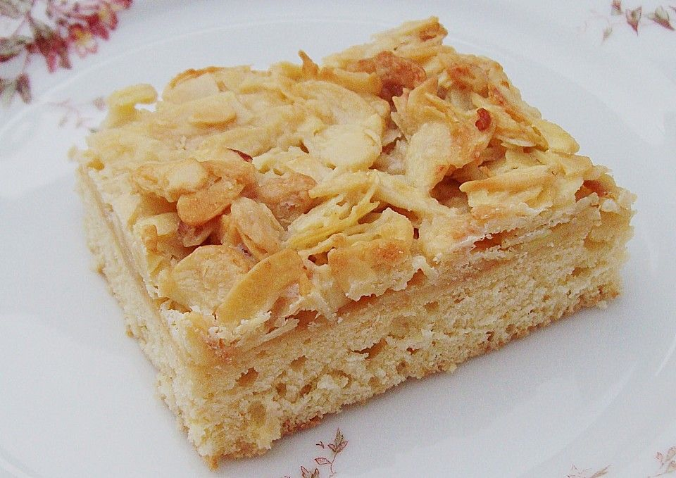 German Butter Cake With Almond Topping Butterkuchen