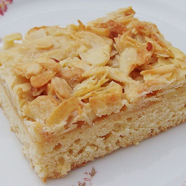 German Butter Cake with Almond Topping (Butterkuchen)