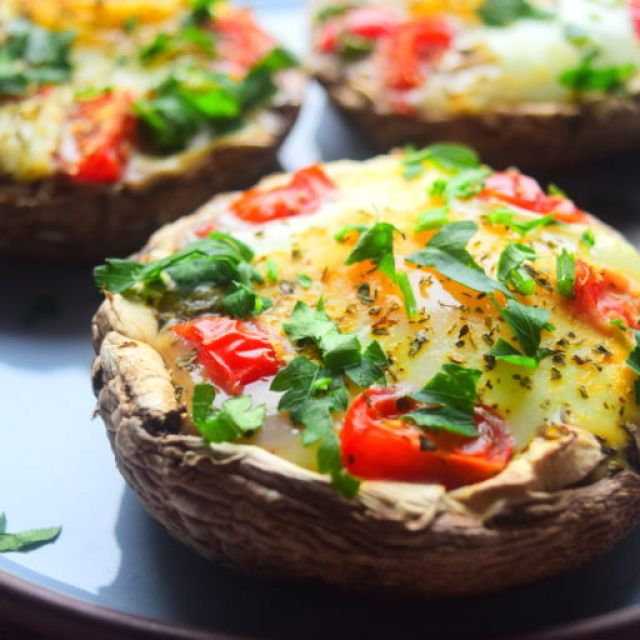 Baked Mushroom & Egg
