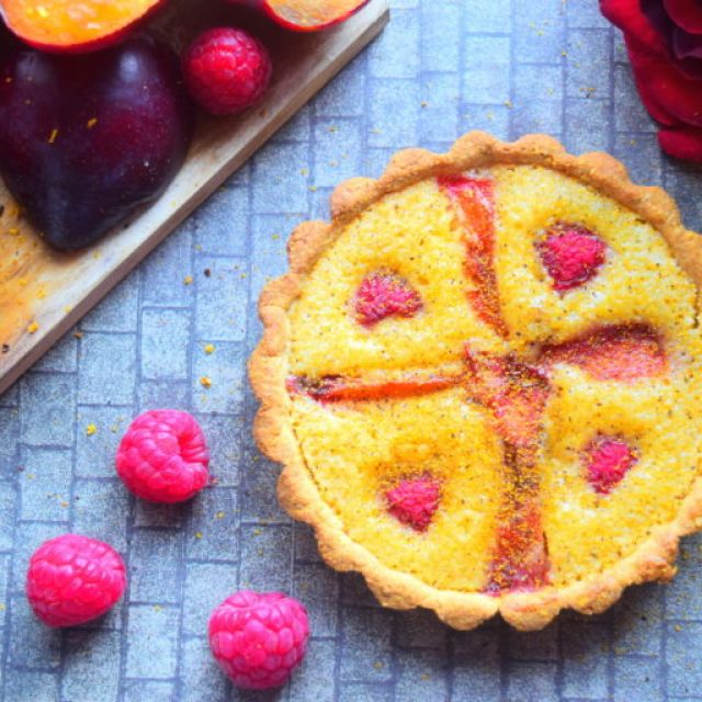 Plum & Raspberry Tart