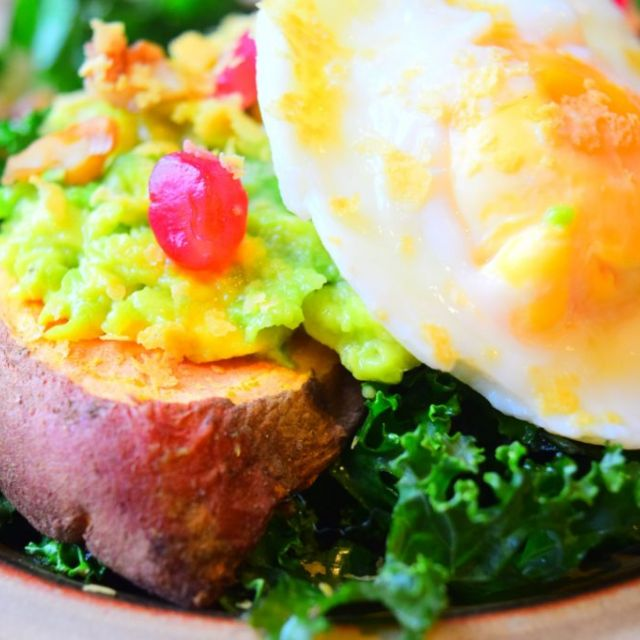 Sweet Potato Toast with Avo & Egg