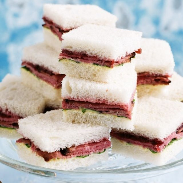 Roast Beef, Horseradish and Beet Chutney Sandwiches