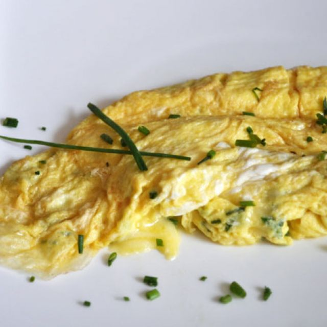 Gruyère Chive Omelette