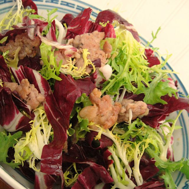 Sausage Salad with Radicchio and Frisée