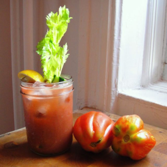 Summer Vegetable and Tomato Bloody Marys