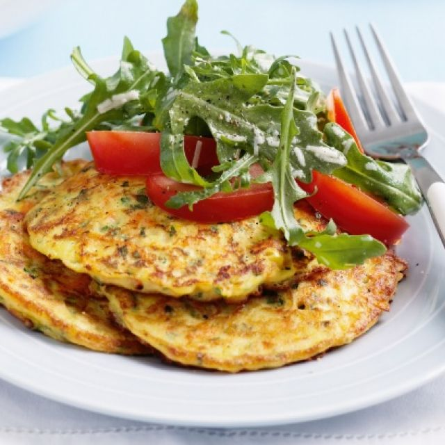 Zucchini, Carrot and Corn Pancakes