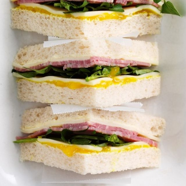 Corned Beef, Watercress and Pickle Sandwiches