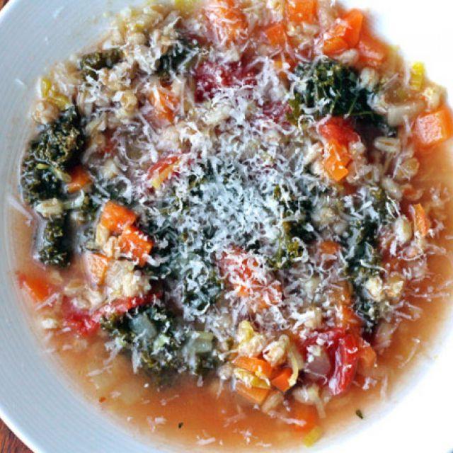 Italian Kale and Farro Soup