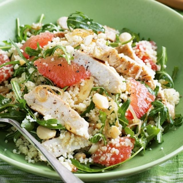 Turkey, Macadamia and Grapefruit Salad