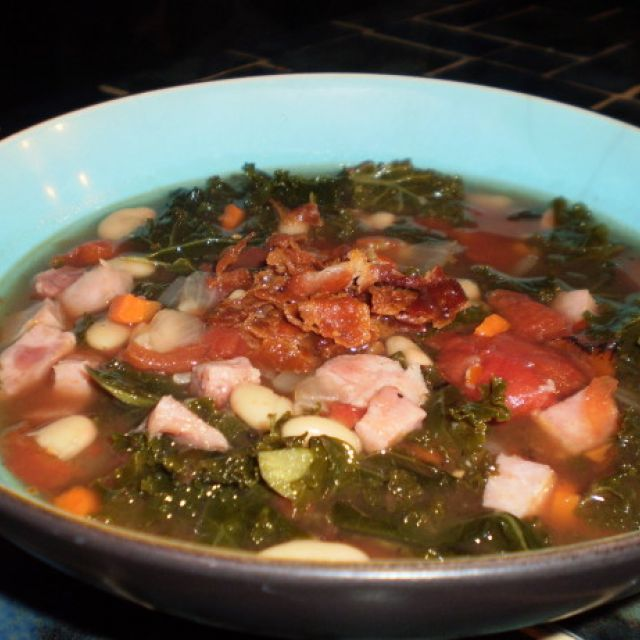 Ham, Bean and Swiss Chard Soup