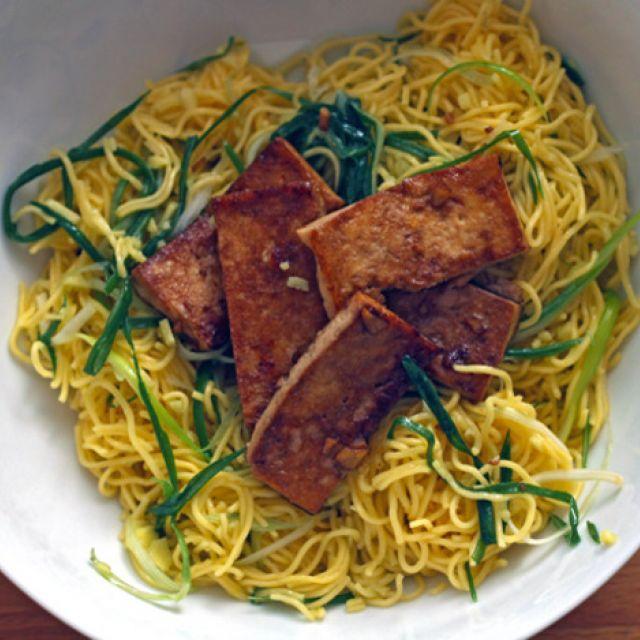 Momofuku's Ginger-Scallion Noodles with Tofu