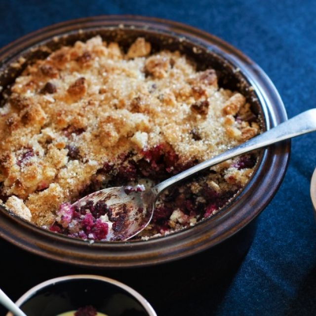 Raspberry and Chocolate Brown Betty