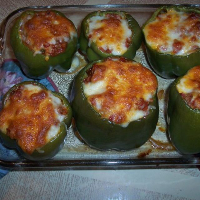 """ South Beach"" Stuffed Bell Peppers"