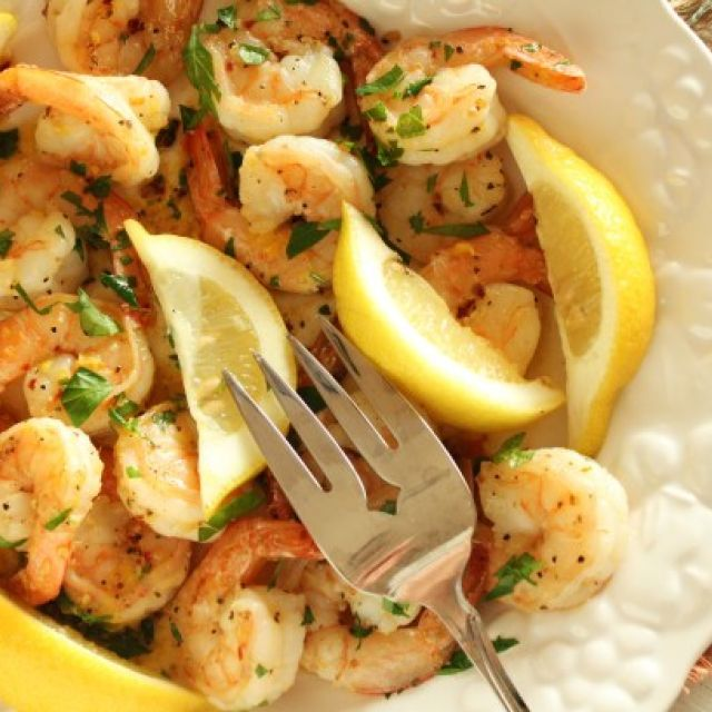 4 Minute Spicy Garlic Shrimp