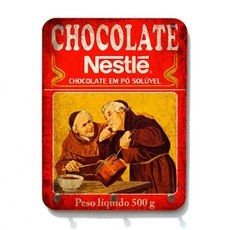 Porta Chaves de Madeira Chocolate do Padre