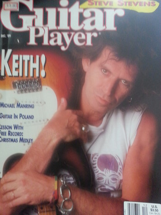 Revista Guitar Player USA (dez. 1989) - Keith!